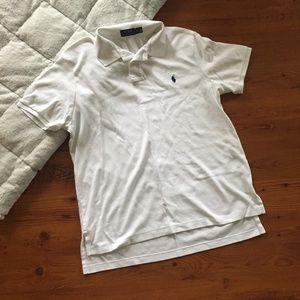 Polo by Ralph Lauren White Polo Shirt Size XL